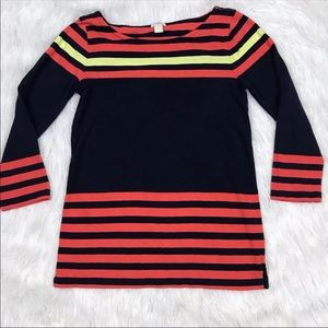 J. Crew Factory Contrast-Stripe Boatneck Tee Small
